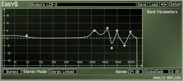 lcd-2 custom EQ curve