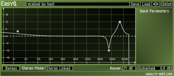 Shure SE535 triple-flange smallest flange cut off EQ curve<