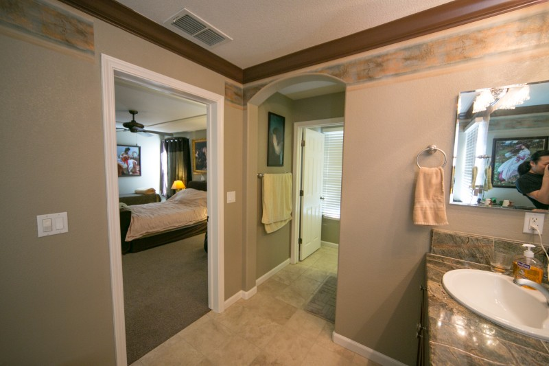Lincoln california master bedroom and bathroom Hallway to master bedroom