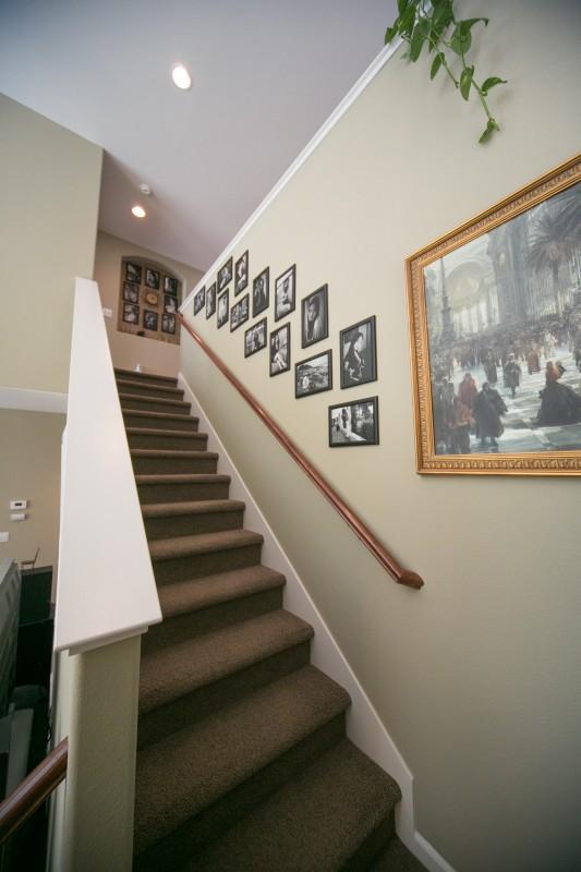Lincoln California Stairs Loft Upstairs Bathroom