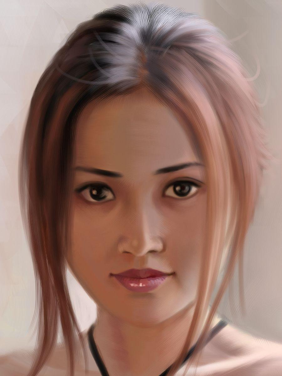 Closeup Portrait Of A: Elena Formal Portrait